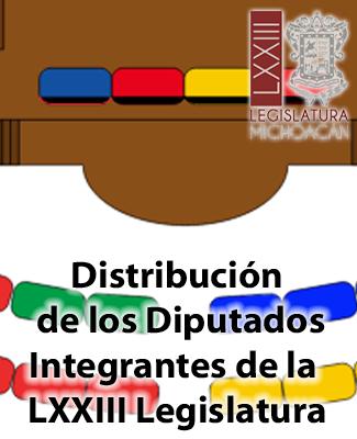 Ubicación en el Pleno de Diputados de Michoacán
