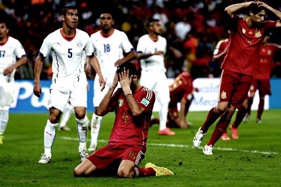 ¡Murió el Campeón! Chile Eliminó a España