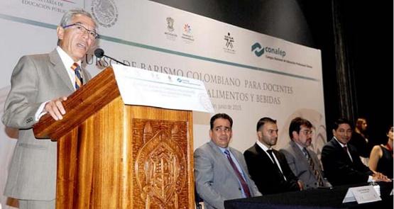 Inaugura Salvador Jara Guerrero Curso de Barismo Colombiano Dirigido a Docentes del Conalep