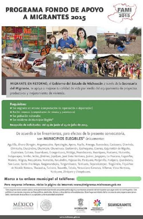 Destina el Fondo de Apoyo a Migrantes más de 47 Millones de Pesos Para Michoacán