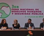 """Cumple Objetivos el """"Tercer Foro Nacional de Derechos Humanos y Seguridad Pública"""""""