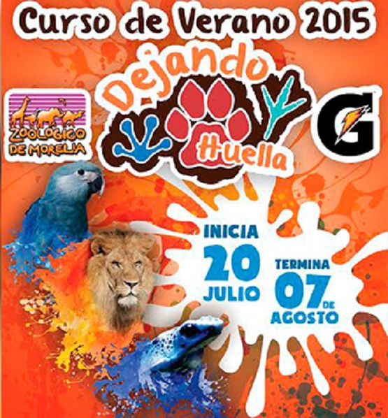 """Jueves 16 de Julio, Ultimo día de Inscripción Para Curso de Verano """"Dejando Huella"""" del Zoológico de Morelia"""