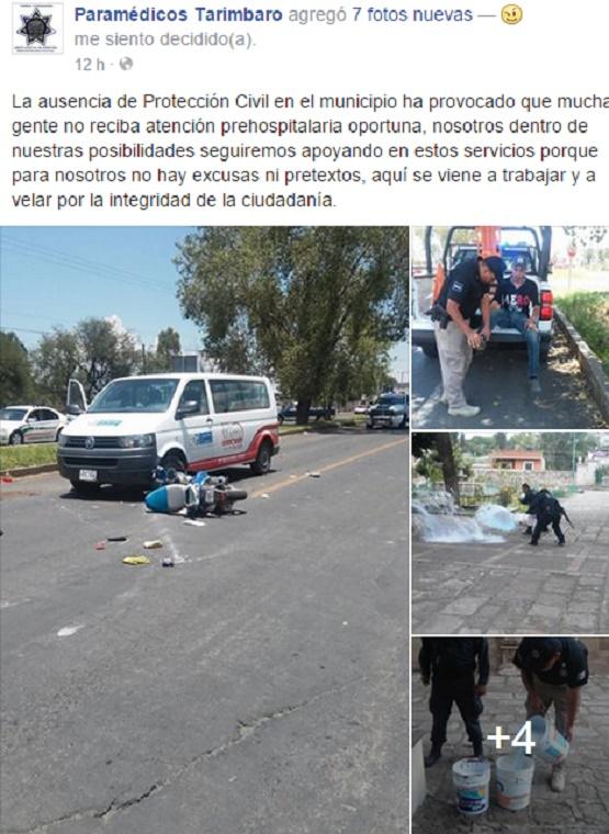 Falta de PC Municipal en Tarímbaro Limita Atención Prehospitalaria