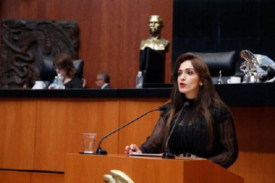 Entrega Iris Vianey Efeméride del General Cárdenas a la Cámara Alta