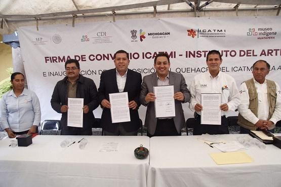 Icatmi, IAM y Ayuntamiento de Uruapan, Unen Esfuerzos a Favor de las y los Artesanos