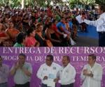Entrega SEDESOL Recursos del Programa de Empleo Temporal en Zonas Marginadas