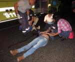 Jóvenes Resultan Heridos Tras Accidente