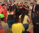 Entrega Apoyos Ernesto Núñez en Colonia Ampliación La Aldea