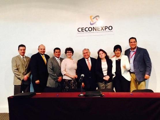 Signan Convenio COBAEM y CECONEXPO