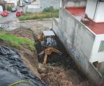Construye Ayuntamiento de Morelia Muro Para Reparar Talud