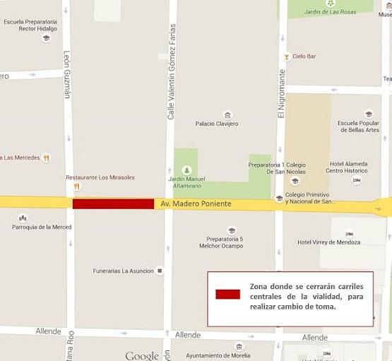 Ooapas Programa Trabajos Sobre Avenida Madero Poniente