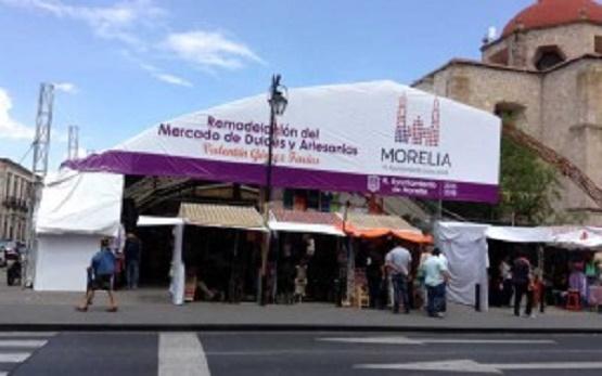 Supervisará Presidente de Morelia Remodelación del Mercado de Dulces