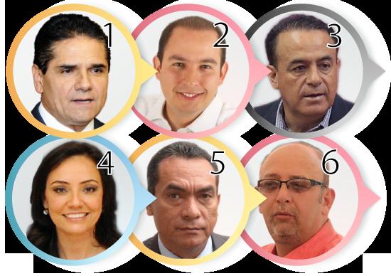 6 políticos