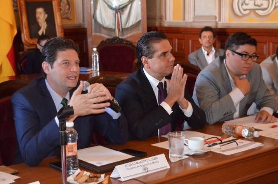 Silvano Aureoles y Alfonso Martínez Presiden Reunión de la Mesa de Seguridad y Justicia de Morelia
