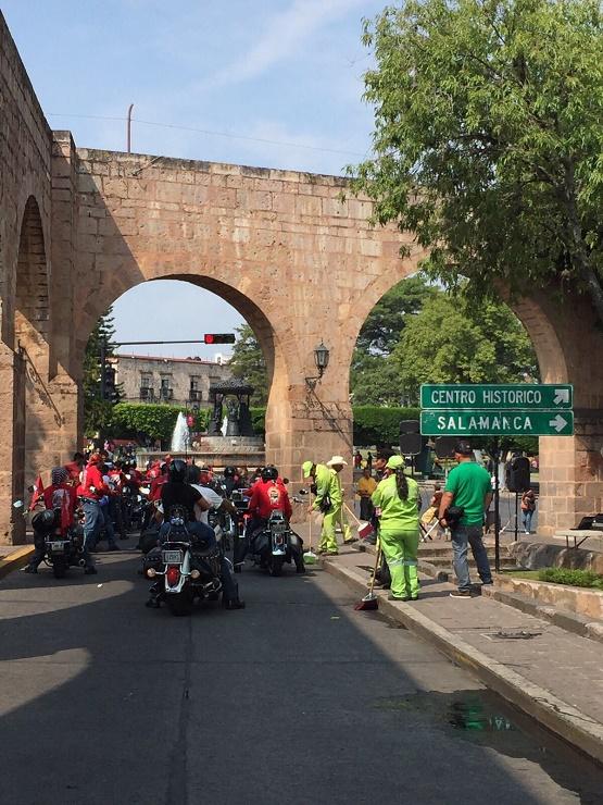 Ayuntamiento de Morelia Realiza Limpieza Inmediata Tras Finalizar Desfile del Aniversario de la Revolución Mexicana