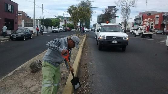 Secretaría de Servicios Públicos da Mantenimiento a Principales Avenidas de Morelia