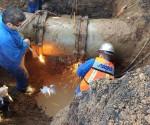 Concluye OOAPAS Reparación de Línea Principal Sobre Avenida Camelinas