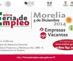 Realizará SNE Ultima Feria de Empleo del año en Morelia