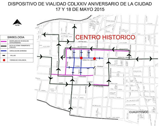 Cierre de Vialidades en el Centro Histórico Durante el Aniversario de Morelia