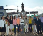 Alcalde Devela Escultura de Josefa Ortiz de Domínguez