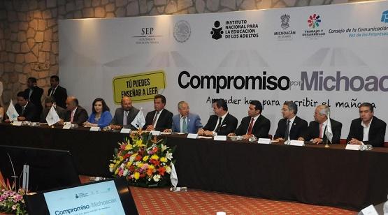 Gobierno de Michoacán Firma la Carta Compromiso por Michoacán Para Avanzar en Alfabetización y Promover la Lectura