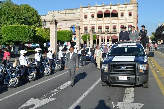 Con Equipo y Vehículos se Fortalece Seguridad Pública en Morelia: Abud