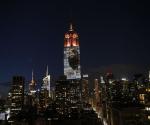 La Imágen del León Cecilio en el Empire State de Nueva York