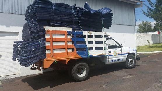 Envía Secretaría de Gobierno, Apoyo en Especie a Damnificados por Inundaciones en Tangancícuaro