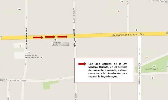 Reparación de Fuga en Avenida Madero Oriente