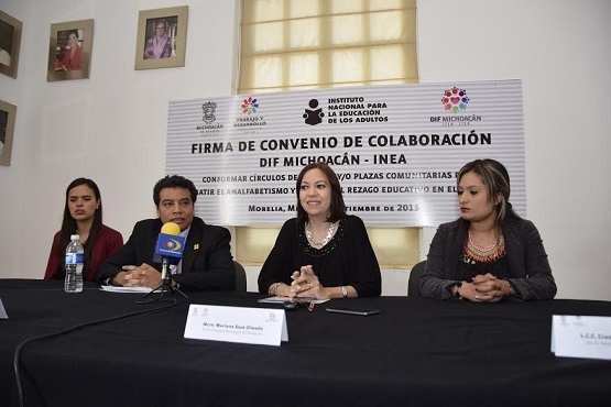 DIF Michoacán e INEA Signan Convenio de Colaboración a Favor de la Educación de los Adultos