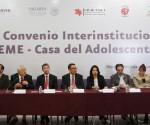 Firma SSM Convenio con Dependencias Para Brindar Atención Integral en UNEME-Casa del Adolescente