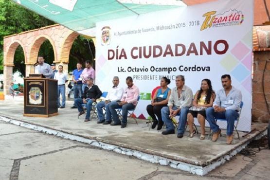 Inaugura Edil el Día Ciudadano en Tuzantla