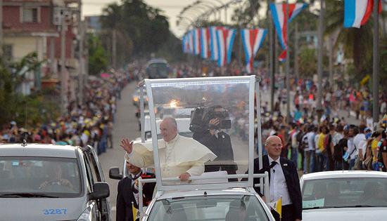 Llega el Papa a la Havana