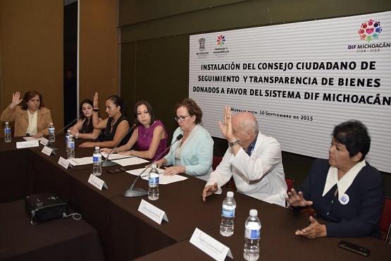 Instalan Consejo Ciudadano de Seguimiento y Transparencia de Bienes Donados a Favor del Sistema DIF Michoacán