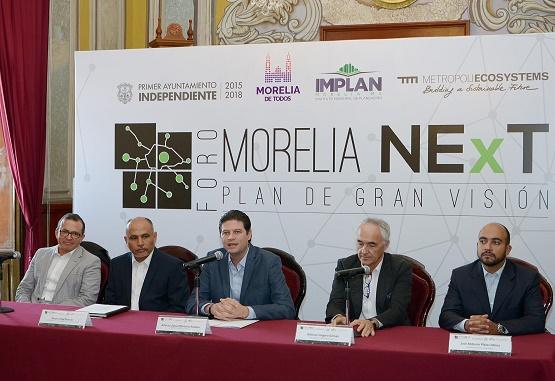 """Presidente Municipal Alfonso Martínez Presenta Plan de Gran Visión """"Morelia NExT"""""""