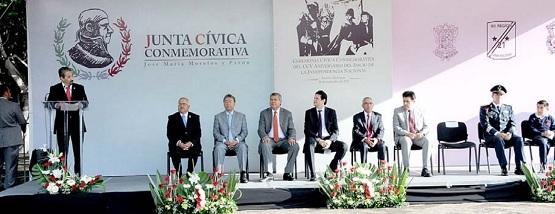 Salvador Jara Encabeza Festejo por el CCV Aniversario de la Independencia de México