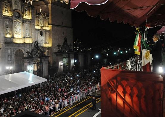 En Completa Calma, CasiI 12 mil Michoacanos Celebran elL Grito de Independencia en la Capital del Eestado