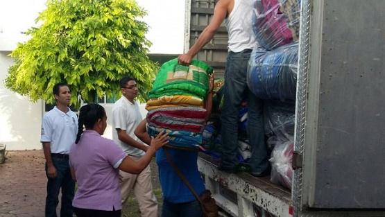 Sepsol Entrega Cobijas y Colchonetas a Familias Michoacanas Afectadas