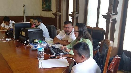 Selene Vázquez Alatorre, Abraham Montes Magaña y Salvador Ceja Barrera