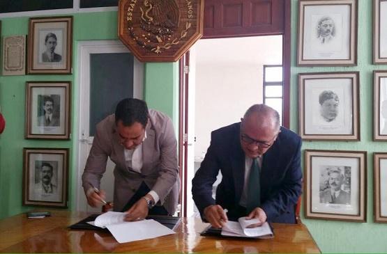 Firma el COBAEM Convenio de Colaboración Para la Instalación de la Extensión Zitácuaro
