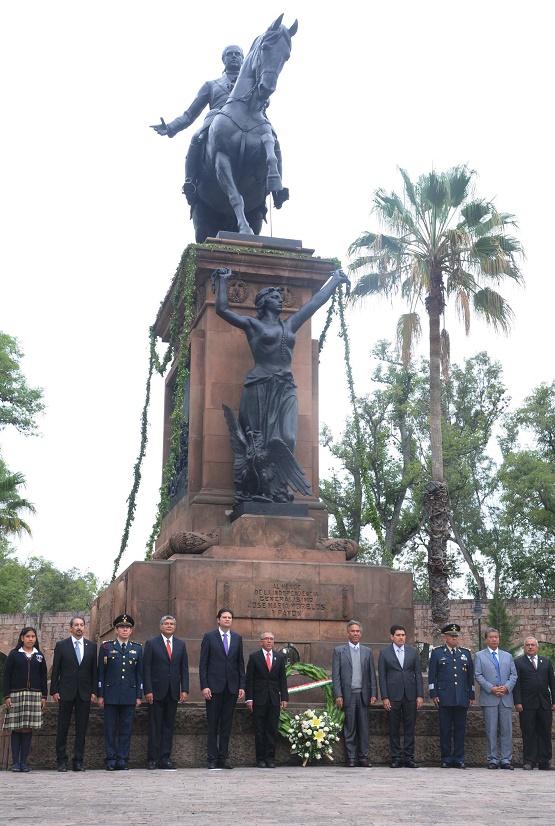 Salvador Jara Concluye su Gobierno con Actos Cívicos en Honor a la Memoria de Don José María Morelos y Pavón