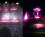 Ayuntamiento de Morelia Ilumina Edificios de Color Rosa