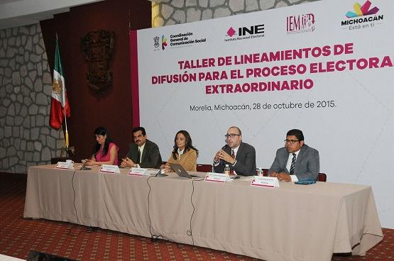 Garantiza Gobierno de Michoacán Cumplimiento a ley Electoral Durante Elecciones Extraordinarias