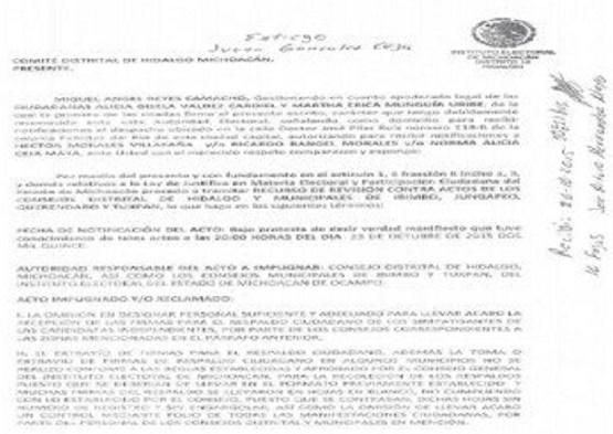 Denuncian Anomalías en Respaldo a Candidatura Independiente en Hidalgo