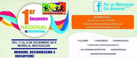 Diputada Nalleli Pedraza Huerta Invita al Primer Encuentro Nacional de Discapacidad en Morelia