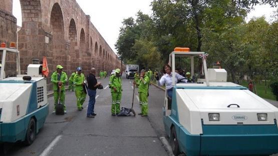 Instruye Ayuntamiento de Morelia Limpieza de Avenida Madero Durante el Desfile
