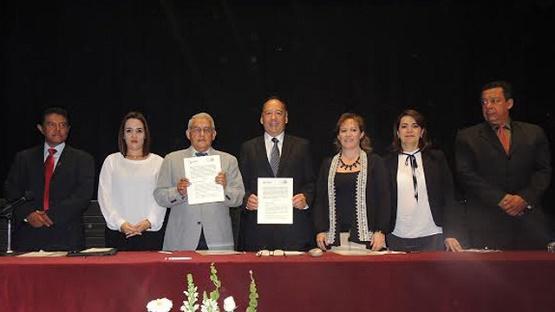 Firma la CEDH Convenio con Asociación de Adultos Mayores