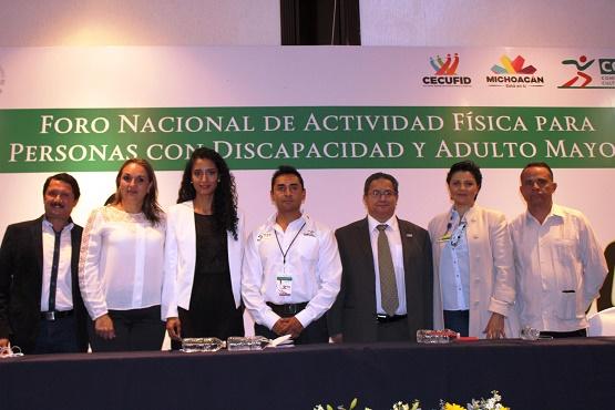 Inicia en Michoacán el Foro Nacional de Actividad Física Para Personas con Discapacidad y Adultos Mayores