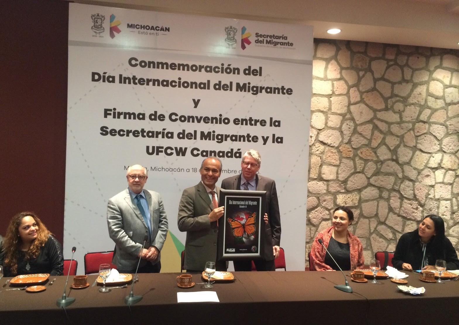 Firman Convenio Semigrante y UFCW Canadá en el Marco del Día Internacional del Migrante