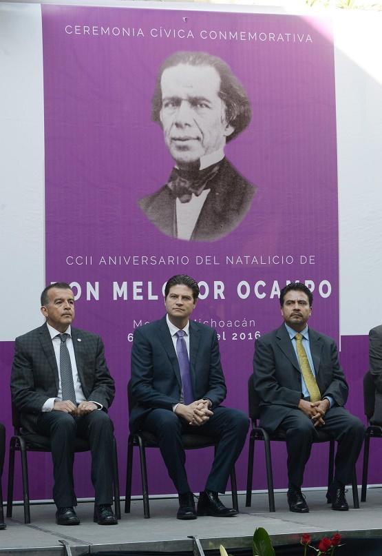 Ayuntamiento de Morelia Conmemora Natalicio de Don Melchor Ocampo